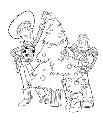 Disney Christmas Coloring Pages Disney Toy Story Toy Story