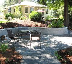 Retaining Wall Seating Decorative Block Shades Of Green Landscaping