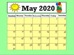 Calendar May 2020 Calendar May 2020 Interactive