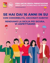 VACCINO ANTICOVID IN SICILIA DA 16 ANNI IN SU CON COMORBILITA' - Radio Una  Voce Vicina