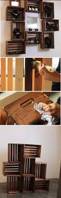 Projects for Teens' Bedrooms. Wooden Crate ShelvesCrate ...
