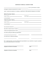 Medical Release Form For Grandparents Printable Medical Permission Forms Slip Template For Treatment