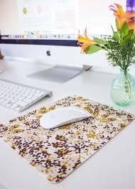 diy cork fabric mousepad