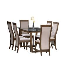 elegant glass topped dining tables designed by brown wooden frame table with square black glass top