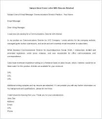 Cover Letter Email Sample Template Gorgeous Email Cover Letter Examples Fearsome Sending Resume By Email Cover