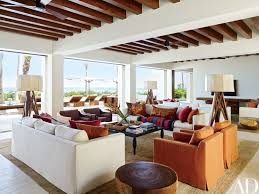 mexican living room furniture. parota-wood beams line the ceiling of couple\u0027s living room, which features lounge mexican room furniture
