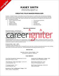 Production Resume Examples Film Producer Resume Sample Production Cv Mmventures Co