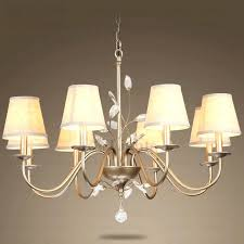 chandeliers with shades and crystals chandelier lamp shades with crystals