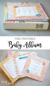 Free Foto Album Easy Baby Album Printable Free Printable Whistle And Lively
