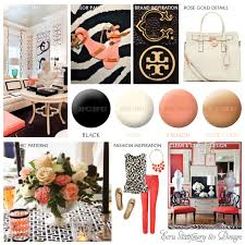 Black White And Coral Mood Board Black White Coral
