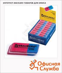 <b>Ластик Brauberg Assistant</b> 80 41х14х8мм красно-синий - купить по ...