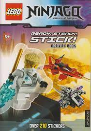 Lego Ninjago Masters of Spinjitzu - Ready, Steady, Stick! Activity Book  (Over 210 Stickers)