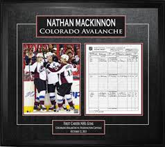 Nathan Mackinnon - Signed & Framed Scoresheet - First Goal ...