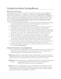 Student Teaching Resume Examples Free Resume Templates