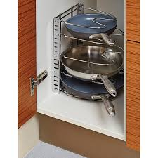 kitchen storage cabinets for pots and pans. chrome cookware organizer kitchen storage cabinets for pots and pans