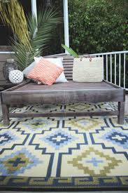 Lhasa Reversible Indoor/Outdoor Rug - Empire Yellow/Gray by Fab Habitat on