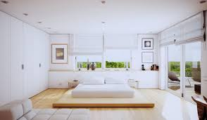 Small White Bedrooms White Bedroom With Color Accents White Cream Silk Curtains Natural