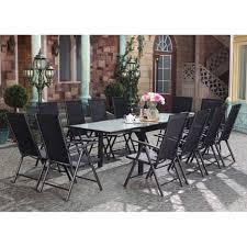 Brescia 12 : Ensemble de jardin en aluminium table extensible + 12 ...