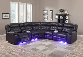 power chocolate leather sectional