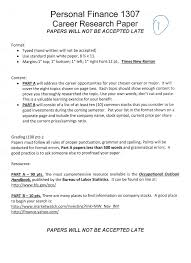 this is a career resaerch paper and we need to cho com personal finance 1307 career research paper papers