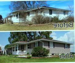 painting vinyl siding before and after