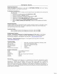 Sample Resume One Year Experienced Software Engineer Save Resume