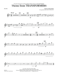 transformers sheet download theme from transformers flute sheet music by steve