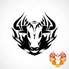 Tetování Tribal Býk Stock Vektor Ipetrovic 46551829