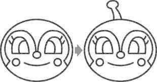 ドキンちゃんのイラストの簡単な書き方