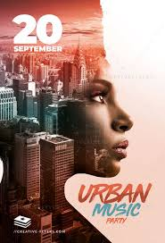 poster psd urban music poster psd photoshop creative flyers