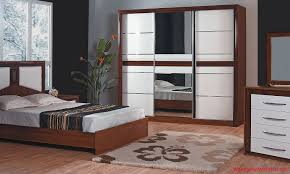 Mirror Cupboards Bedroom Bedroom Brown Country Oriental Area Rug White Table Traditional