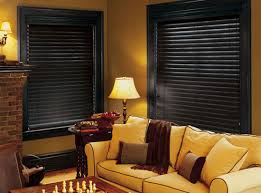 black wooden blinds. 2 Wood Window Blinds Black Wooden
