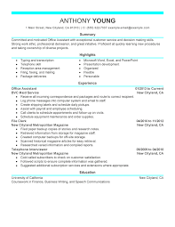 Resumes Example Fascinating Free Resume Examples By Industry Job Title LiveCareer