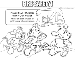 Small Picture Coloring Fire Safety
