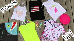 Decorate Your Own Clothes Diy Clothes 5 Diy T Shirt Projects Cool Youtube
