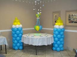 Baby Bottle Balloon Decoration Baby Shower Centerpieces For Tables BABY BOTTLE BALLOON COLUMNS 3