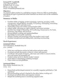 16 Free Sample Assistant Editor Resumes Best Resumes 2018