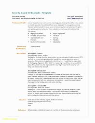 Security Resume Sample Extraordinary 48 Unique Security Guard Resume Sample Awesome Resume Example