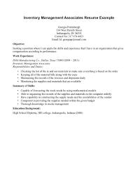 Inventory Management Analyst Resume Sales Inventory Management