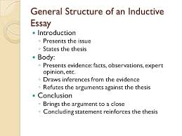 chapter understanding logic and recognizing logical fallacies  general structure of an inductive essay