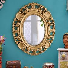 tiedribobns vintage antique style wall mirror glass for living room bathroom bedroom home décor with high