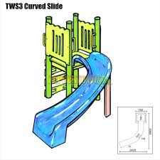 curved slide curved water slide kit right or left by peppertown online store