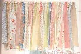 Shabby chic curtains and window dressing ideas - The Shabby Chic Guru & ... Rag valance window dressing Adamdwight.com