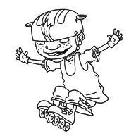 Kleurplaat Otto Rocket Is Aan Het Skaten Kleurplaatjecom