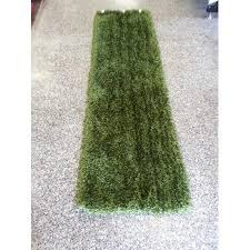 U Modern Solid Runner Hunter Green Area Rug Hand Tuffted 100 Percent  Polyester Exact Size