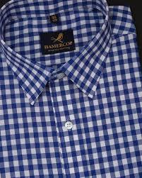 Chex Shirt Design Blue And White Poplin Check Shirt