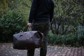 rockcow large vintage retro look genuine leather duffle bag weekend bag men s handbag 12027