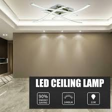 Patriot Lighting Ceiling Fan Parts Led Ceiling Lamp 85 265v Forked Shaped Modern Kitchen Bedroom Lighting Decor Kit