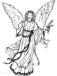 1001 Kleurplaten Kerst Engelen Kerst Engel Kleurplaat