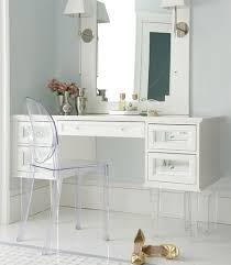 white makeup vanity with mirrored drawers and lucite legs white makeup vanity
